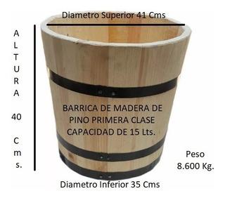Tina De Madera 15 Lts. Elaboración De Nieves Ó Helados