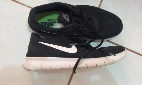 Tenis Nike Free Nr Semi Novo T: 39 Black/white