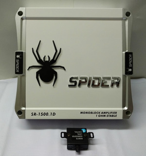 Amplificador Auto Clase D Woofer 1 Canal 1500w Spider
