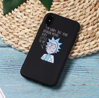 Funda Rick Y Morty Para Todos Los Modelos De iPhone.