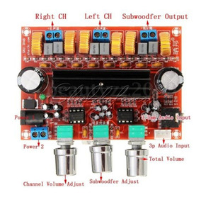 Amplificador 2.1 200w Rms 50+50+100w Módulo Tpa3116d2 Fliper