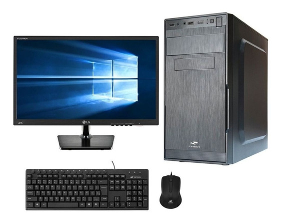 Pc Completo Barato 2.41 Ghz 4gb Ssd 120gb Monitor 19,5¨ Wifi