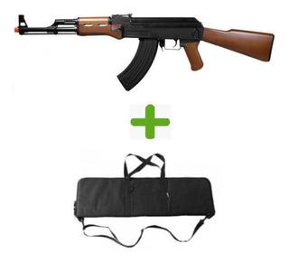 Rifle Airsoft Cm Ak47 G&g + Bag Para Transporte