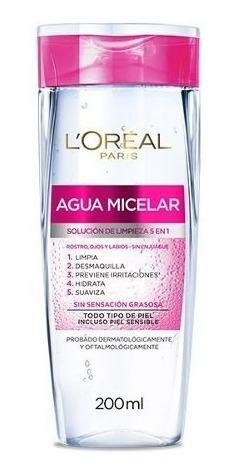 Agua Micelar Desmaquillante Y Limpieza Facial 5en1 Loreal