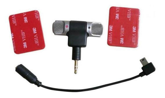 Kit Microfone Externo Cabo Adaptador Para Gopro Hero 3/4