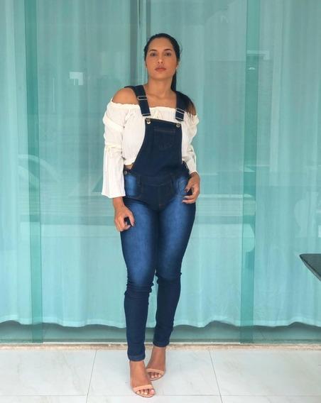 Macacão Jeans Feminino Plus Size Luxo