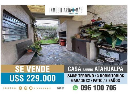 Casa 3 Dormitorios Venta Atahualpa Montevideo Imas.uy R *