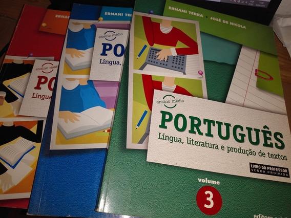 3 Volumes Português Língua Literatura E Produção De Textos