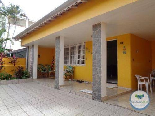 Casa Com 3 Dormitórios À Venda, 114 M² Por R$ 500.000,00 - Centro Leopoldina - Itanhaém/sp - Ca0592