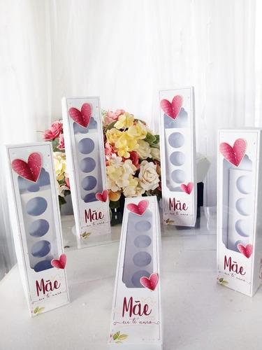 Caixa Bombom Com Suporte Para Flor Dia Das Mães