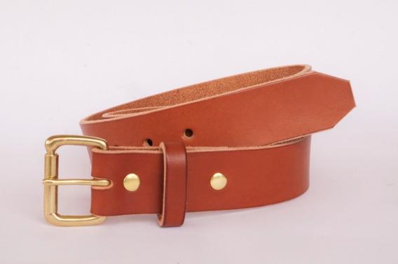 Cinturon De Piel Genuina Hecho A Mano - Garantizado