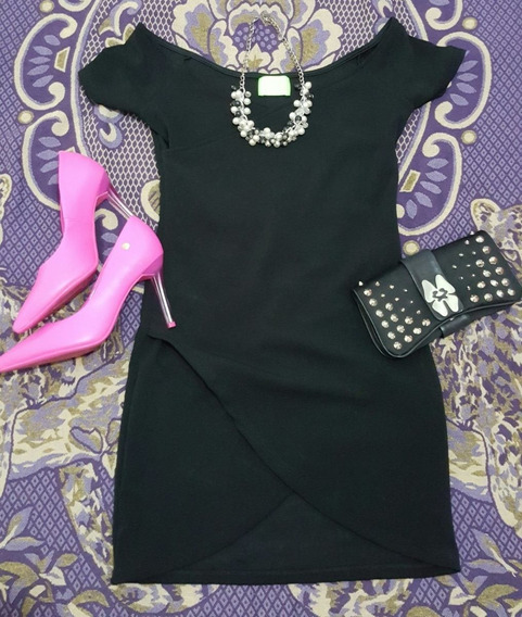Mini Black Dress Vestido Primavera Verano Talle 1