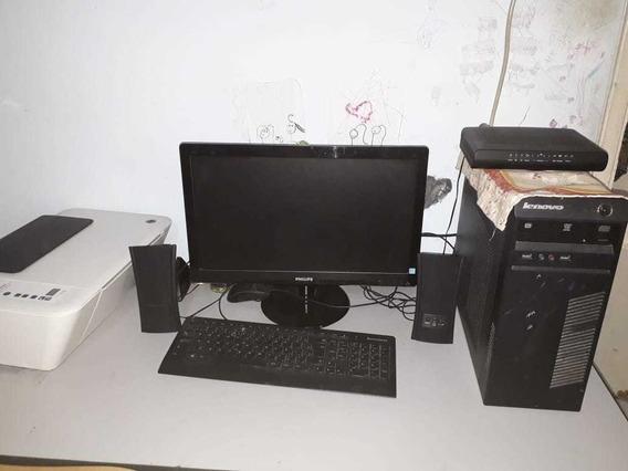 Computador Intel I3 4gb Ram Completo Com Impressora E Mesa
