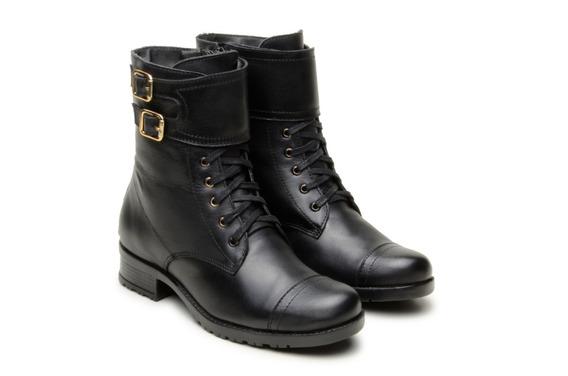 Coturno Feminino Couro Atron Shoes 7090 Promoção Queima De Estoque, Envio Imediato **--**