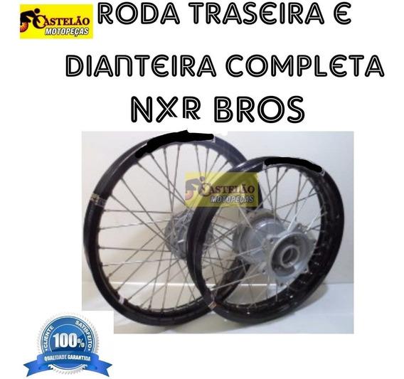 Aro Roda Montada Nxr 125-150 Bros Aros Aluminio [par]