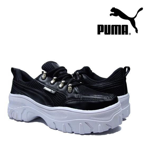 Tênis Puma Sneaker | Plataforma Feminino Solado Alto