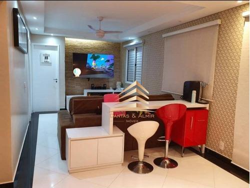 Apartamento No Condomínio Bem Querer, 2 Dormitórios, 1 Suíte, 1 Vaga, Avalia Permuta Parque Clube. - Ap0994