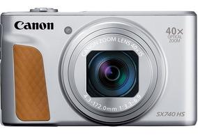 Câmera Canon Powershot Sx740 Hs Prata Zoom 40x 20.3mp