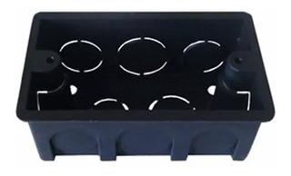 Kit Com 100 Caixinhas Para Tomada 4x2 Preta - Construção
