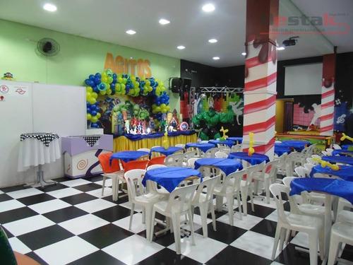 Salão, Vila Valparaíso, Santo André - Sl0015. - Sl0015