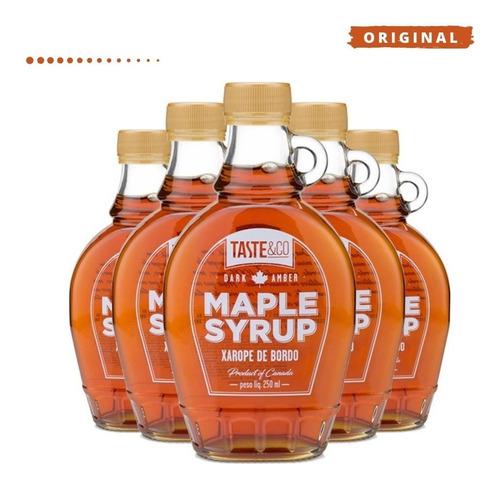 Imagem 1 de 5 de 5x Xarope De Bordo Taste&co Maple Syrup 250ml