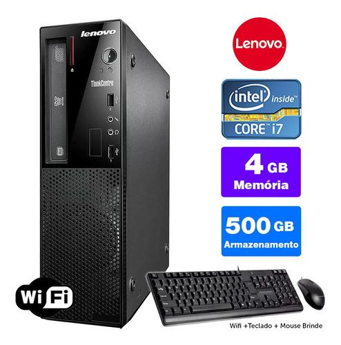 Imagem 1 de 5 de Computador Completo Lenovo Thinkcentre Int I7 4g 4gb 500gb