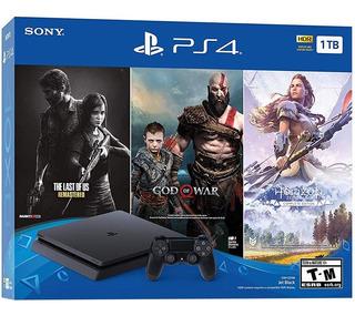Playstation 4 Ps4 Slim 1tb Nuevo + 3 Juegos. Tienda.
