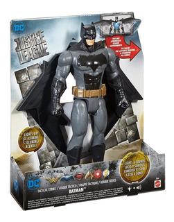 Muñeco Liga De La Justicia Batman Mattel Luces Y Sonidos