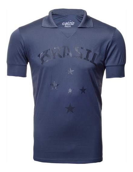 Camisa Retrô - Brasil Torcedor Cinza