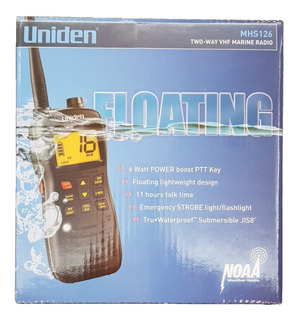 Radio Marino Uniden Vhf Mhs126 6watts Sumergible Jis8 Flota