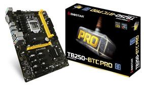 Placa Mae Para Mineração Biostar Tb250-btc Pro 12 Pci-e
