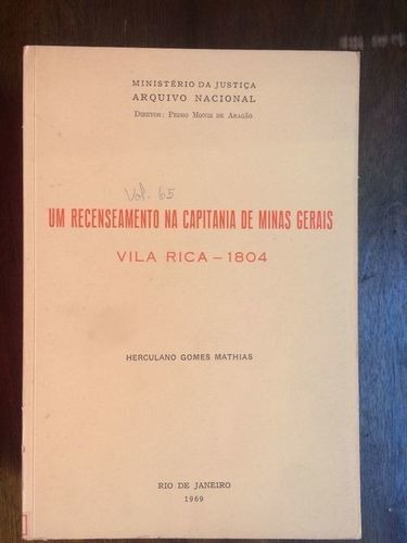 Um Recenseamento Na Capitania De Minas Gerais