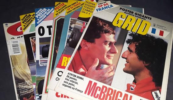 7 Revistas Pôster Grid Fórmula 1