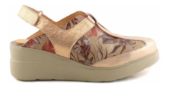 Zueco Briganti Mujer Cuero Zapato Perforado - Mcsu48033 Vp