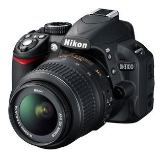 Camara Dslr Nikon D3100 5797 Disparos 340v