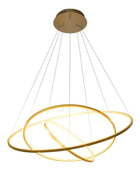 Lustre Pendente Bella Birdie Dourado 3 Arco 39w Kw002g St351