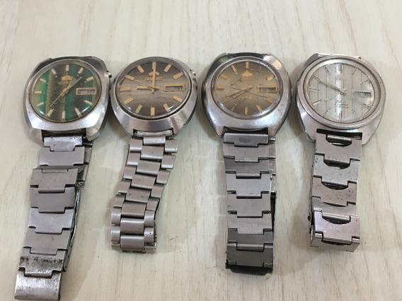 Lote 4 Relógios Orient 46941 Para Conserto (sem Ferrugem)