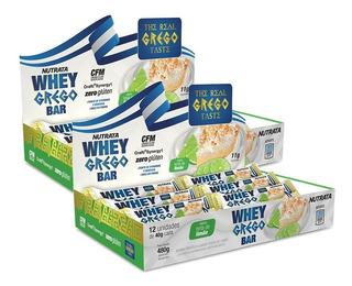 2x Whey Grego Bar 12 Unidades - Nutrata