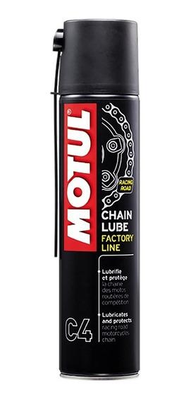 Motul C4 400ml Spray Lubrificante Corrente Moto + 2 Adesivos