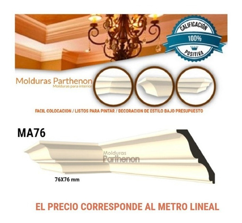 Parthenon Molduras Para Interior Ma76 Mejor Marca/calidad