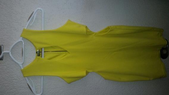 Vestido Amarillo Corto En Cotton Licra