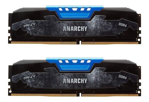 Memorias Pny Anarchy 8gb ( 2 X 4gb ) Ddr4 2400 Mhz