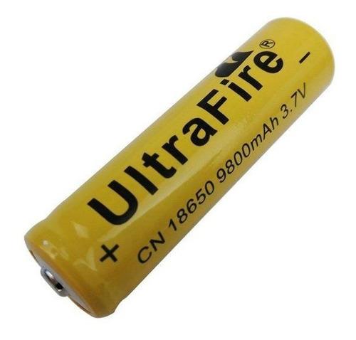 Imagen 1 de 3 de Pila Bateria 18650 Recargable 9800mah 3.7v Li-ion Ultrafire