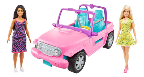 Barbie Estate, Jeep Con Muñeca Y Amiga
