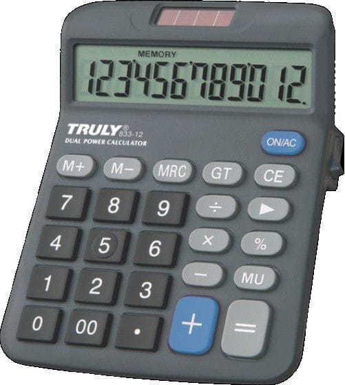 Calculadora De Mesa 12dig Truly 833-12
