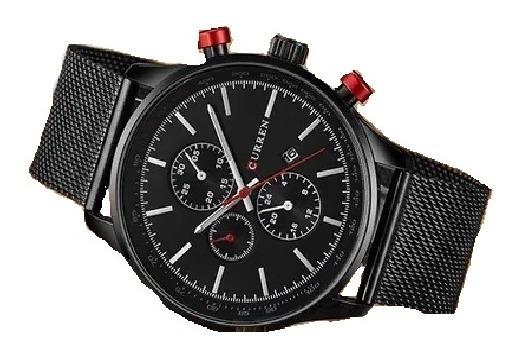 Relógio Masculino Curren Social Luxo Aço Lançamento 2020 Pro