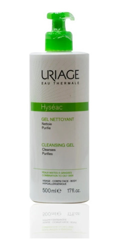 Hyséac Gel Uriage Nettoyant Limpiador Purificante X 500 Ml