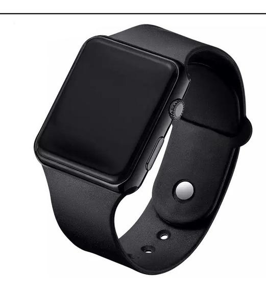 Relógio Masculino Feminino Digital Led Preto Luxo Barato