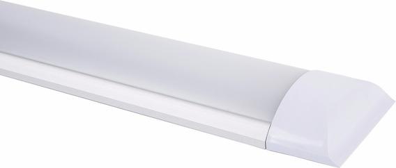 Kit 24pçs Luminária Led Slim Sobrepor 18w 60 Cm Bivolt 6500k