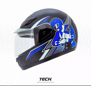 Casco Moto Integral Tech 229 Para Niños Talla Unica